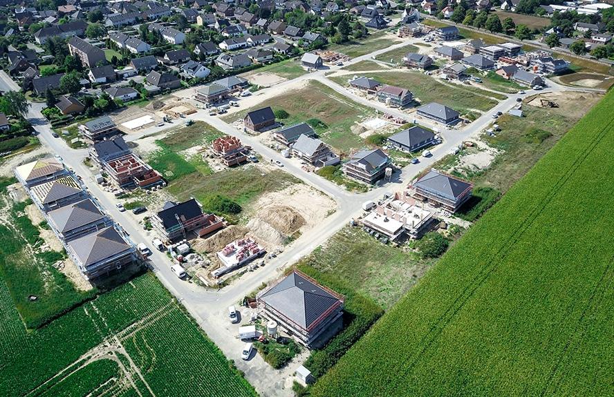 Neubaugebiet-mit-Häuser